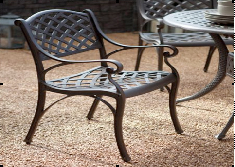 outdoor furniture chair iron material