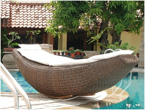 Rattan Patio Furniture Outdoor Lounger