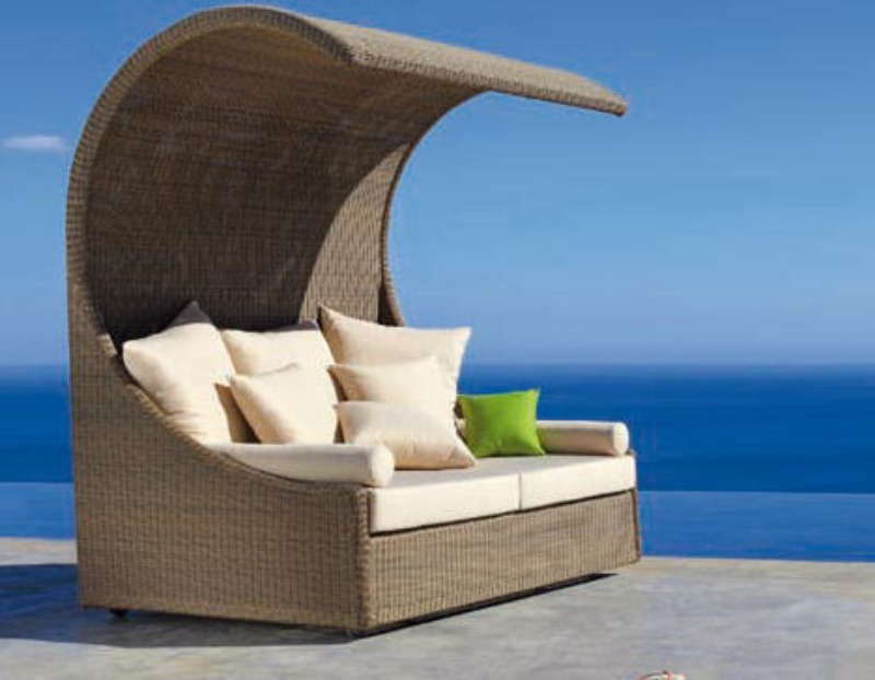 outdoor sofa with wicker cover