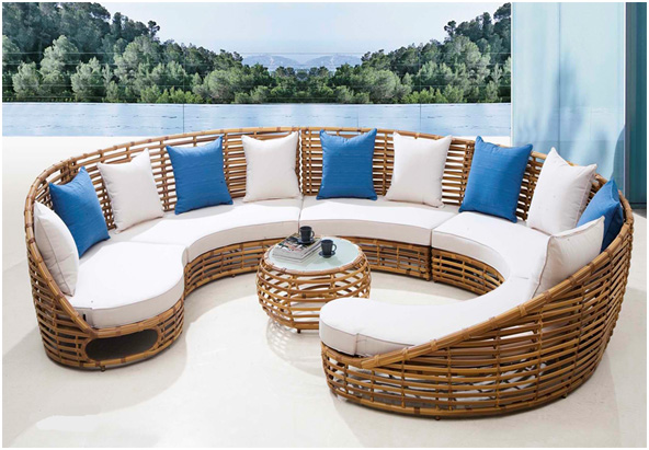 All Weather Wicker Sectional Patio Furniture Set