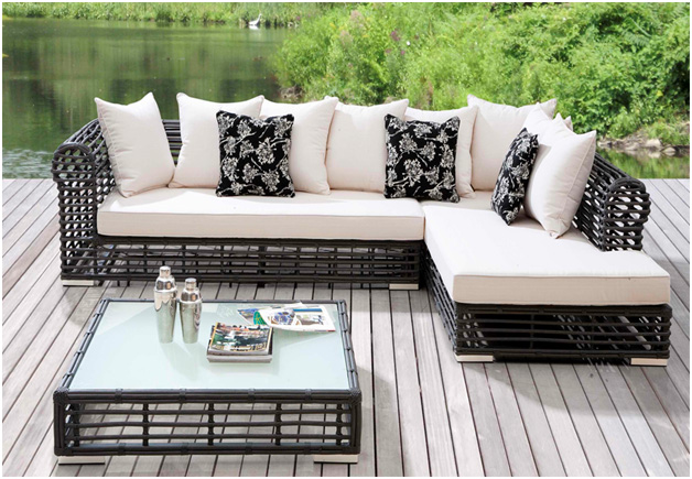 outdoor sectional sofa resin wicker