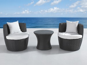 outdoor wicker condo furniture